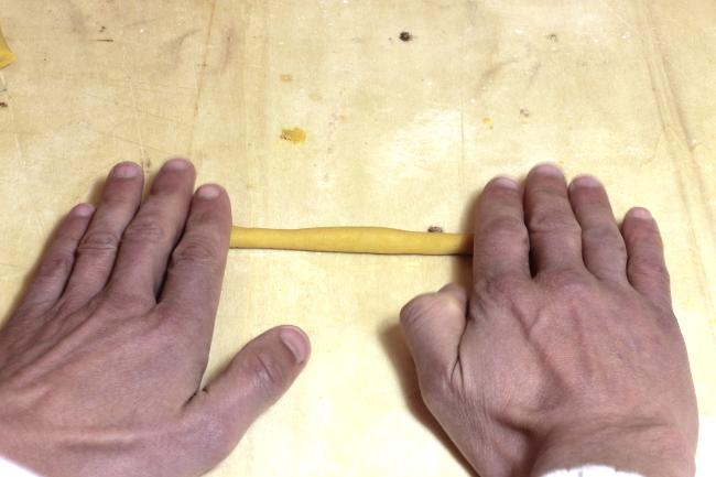 Preparazione salsicciotto