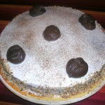 Torta ai marron glaces e carruba