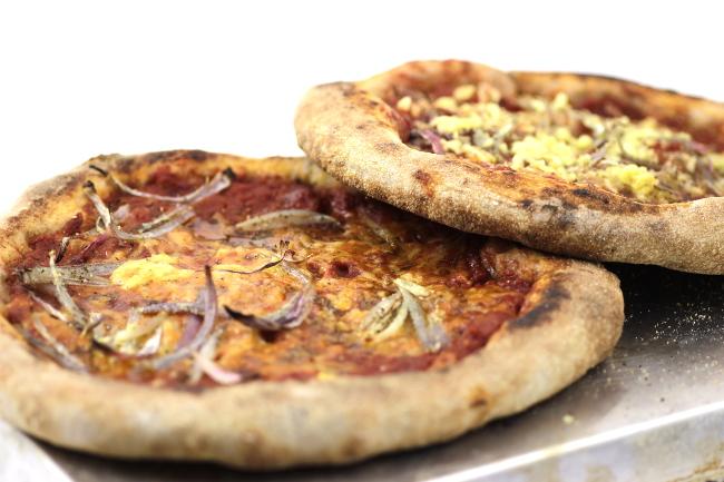 pizza con farina tipo 1 e mosto d'uva